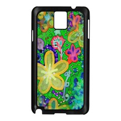Beautiful Flower Power Batik Samsung Galaxy Note 3 N9005 Case (black)