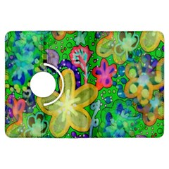 Beautiful Flower Power Batik Kindle Fire HDX 7  Flip 360 Case