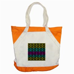 Cmyk Damask Flourish Pattern Accent Tote Bag