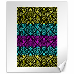 Cmyk Damask Flourish Pattern Canvas 8  X 10  (unframed)