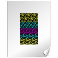 Cmyk Damask Flourish Pattern Canvas 12  X 16  (unframed)
