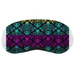 Cmyk Damask Flourish Pattern Sleeping Mask