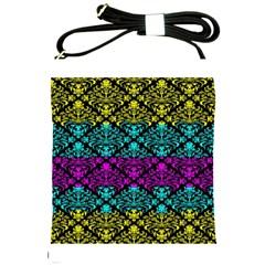 Cmyk Damask Flourish Pattern Shoulder Sling Bag