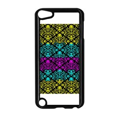 Cmyk Damask Flourish Pattern Apple iPod Touch 5 Case (Black)