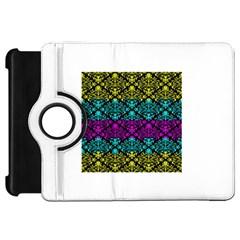 Cmyk Damask Flourish Pattern Kindle Fire HD 7  (1st Gen) Flip 360 Case