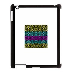 Cmyk Damask Flourish Pattern Apple Ipad 3/4 Case (black)