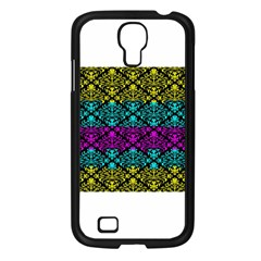 Cmyk Damask Flourish Pattern Samsung Galaxy S4 I9500/ I9505 Case (black)