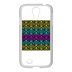 Cmyk Damask Flourish Pattern Samsung GALAXY S4 I9500/ I9505 Case (White)
