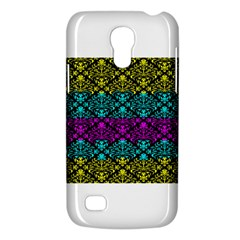 Cmyk Damask Flourish Pattern Samsung Galaxy S4 Mini (gt I9190) Hardshell Case