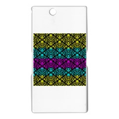 Cmyk Damask Flourish Pattern Sony Xperia Z Ultra (XL39H) Hardshell Case