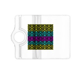 Cmyk Damask Flourish Pattern Kindle Fire Hd 7  (2nd Gen) Flip 360 Case