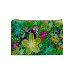 Beautiful Flower Power Batik Cosmetic Bag (medium)