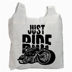 Justride White Reusable Bag (Two Sides)