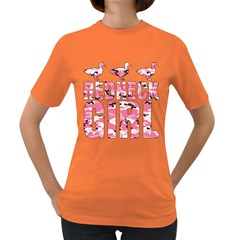 Redneck Girl Pink Camo Ducks Women s T Shirt (colored)