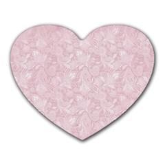 Elegant Vintage Paisley  Mouse Pad (heart)