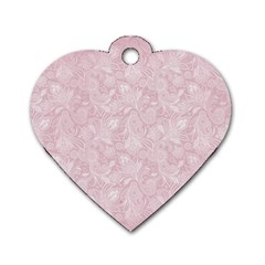 Elegant Vintage Paisley  Dog Tag Heart (Two Sided)