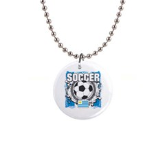 Soccer Uruguay 1  Button Necklace