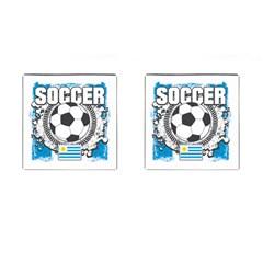 Soccer Uruguay Cufflinks (Square)
