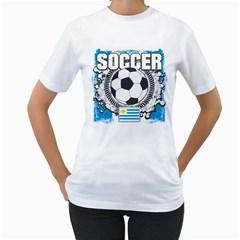 Soccer Uruguay Women s T Shirt (white)
