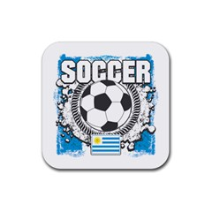 Soccer Uruguay Rubber Square Coaster (4 pack)