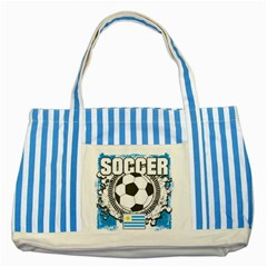 Soccer Uruguay Striped Blue Tote Bag