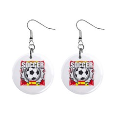 Soccer Spain 1  Button Earrings