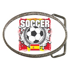 Soccer Spain Belt Buckle