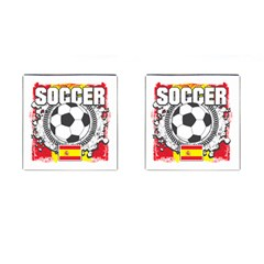 Soccer Spain Cufflinks (square)