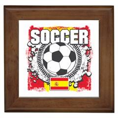 Soccer Spain Framed Tile
