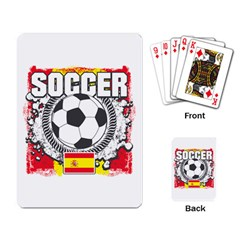 Soccer Spain Playing Cards Single Design