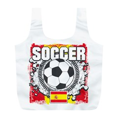 Soccer Spain Full Print Recycle Bag (l)