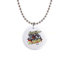 Lets Race Go Karts 1  Button Necklace