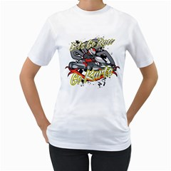 Lets Race Go Karts Women s T Shirt (white)