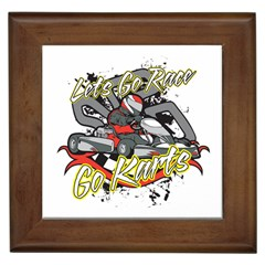 Lets Race Go Karts Framed Tile