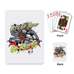 Lets Race Go Karts Playing Cards Single Design