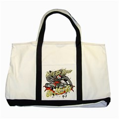 Lets Race Go Karts Two Tone Tote Bag