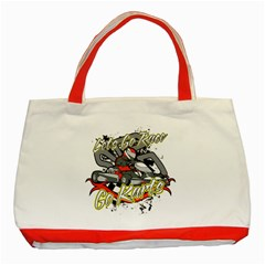 Lets Race Go Karts Classic Tote Bag (Red)