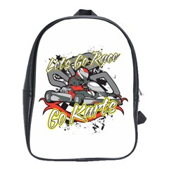 Lets Race Go Karts School Bag (Large)