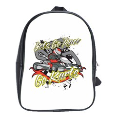 Lets Race Go Karts School Bag (XL)
