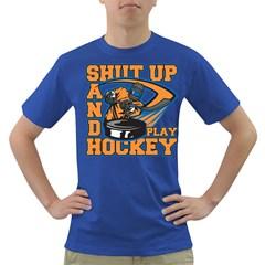 Shut Up and Play Hockey Dark T-Shirt
