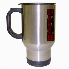 Shut Up and Play Hockey Travel Mug (Silver Gray)