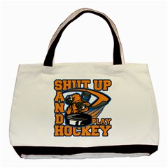 Shut Up And Play Hockey Classic Tote Bag (two Sides)