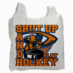 Shut Up And Play Hockey Recycle Bag (two Side)