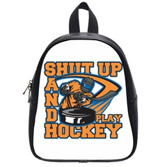 Shut Up And Play Hockey School Bag (small)