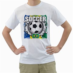 Soccer Brazil Men s T Shirt (white)
