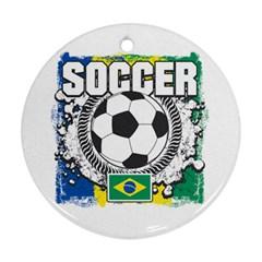 Soccer Brazil Ornament (Round)