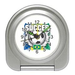 Soccer Brazil Travel Alarm Clock