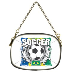 Soccer Brazil Chain Purse (one Side)