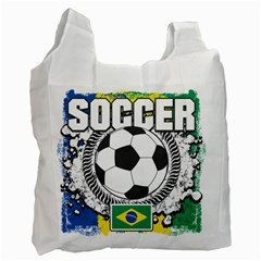 Soccer Brazil Recycle Bag (One Side)