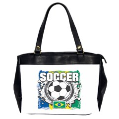 Soccer Brazil Oversize Office Handbag (two Sides)